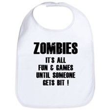 Zombies Fun and Games Bib