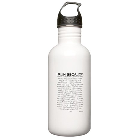 I Run Because Stainless Water Bottle 1.0L