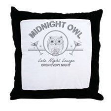 Midnight Owl Throw Pillow