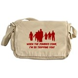 Zombies Quote Messenger Bag