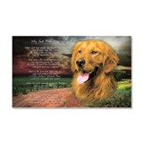 """Why God Made Dogs"" Golden Retriever Car Magnet 20"