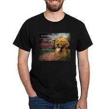 """Why God Made Dogs"" Golden Retriever T-Shirt"