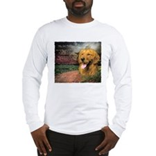 """Why God Made Dogs"" Golden Retriever Long Sleeve T"