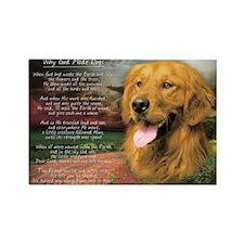 """Why God Made Dogs"" Golden Retriever Rectangle Mag"