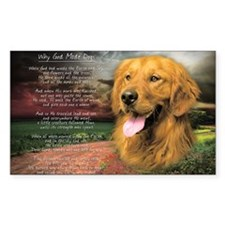 """Why God Made Dogs"" Golden Retriever Decal"