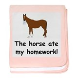 The Horse ate my homework baby blanket