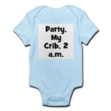 Party, My Crib, 2 a.m. Infant Creeper