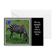 Blue Balloon Zebra Birthday