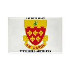 DUI - 1st Bn, 77th Field Artillery with Text Recta