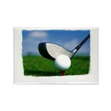 Unique Golf Rectangle Magnet