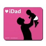 iDad Pink Father & Baby Mousepad