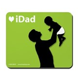 iDad Green Father & Baby Mousepad