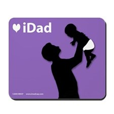 iDad Purple Father & Baby Mousepad