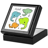 &quot;E is for Elephant&quot; Keepsake Box