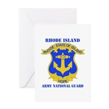 DUI-RHODE ISLAND ANG WITH TEXT Greeting Card