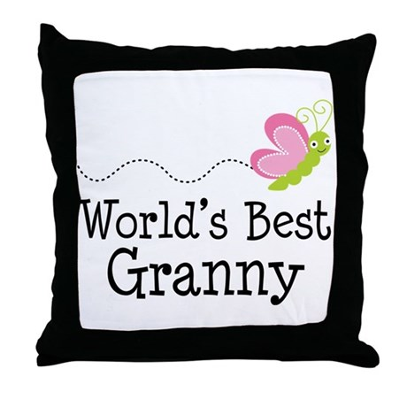 World's Best Granny Throw Pillow