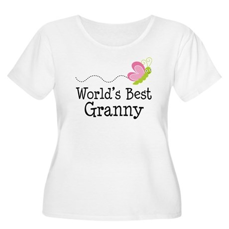 World's Best Granny Women's Plus Size Scoop Neck T