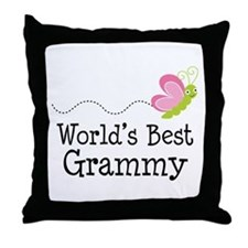 World's Best Grammy Throw Pillow