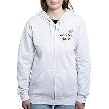 World's Best Nana Zip Hoodie