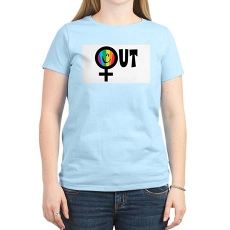 Out Female Women's Light T-Shirt