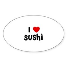 I * Sushi Oval Decal