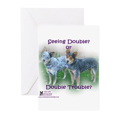 Double Trouble ACDs Greeting Cards (Pk of 20)