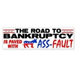 """""""Road To Bankruptcy!"""" Sticker (Bumper)"""