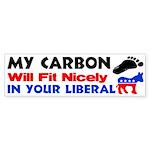 """""""My Carbon Footprint"""" Sticker (Bumper)"""