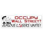"""Jealous Losers Unite!"" Sticker (Bumper)"