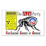 """The Flea Party"" Sticker (Rectangle)"