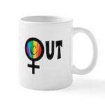 Out Female Mug
