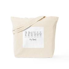 My Band B&W Tote Bag