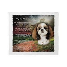 """Why God Made Dogs"" Shih Tzu Throw Blanket"