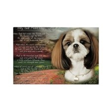 """Why God Made Dogs"" Shih Tzu Rectangle Magnet"