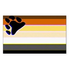 BEAR PRIDE FLAG HORIZONTAL Rectangle Decal