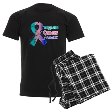 Thyroid Cancer Awareness Men's Dark Pajamas