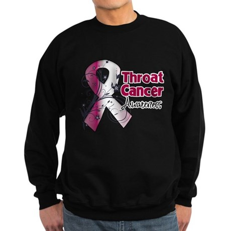 Throat Cancer Awareness Sweatshirt (dark)