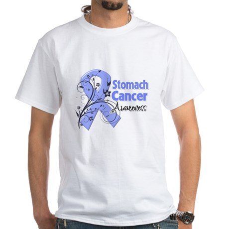 Stomach Cancer Awareness White T-Shirt
