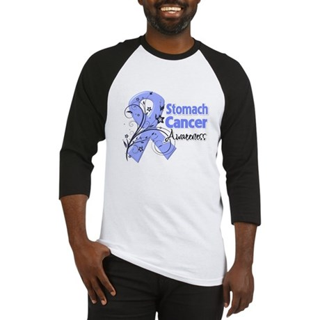 Stomach Cancer Awareness Baseball Jersey