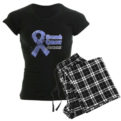 Stomach Cancer Awareness Women's Dark Pajamas