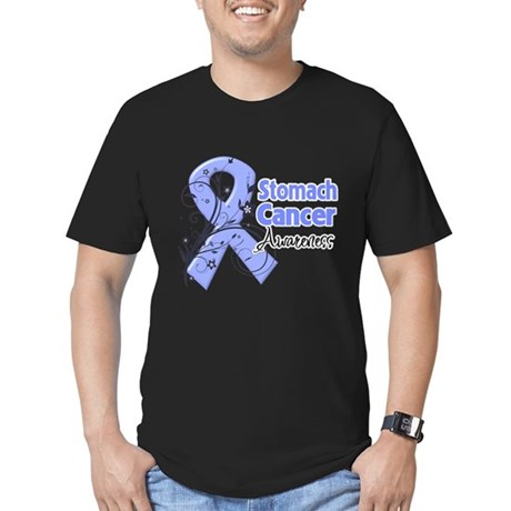 Stomach Cancer Awareness Men's Fitted T-Shirt (dar