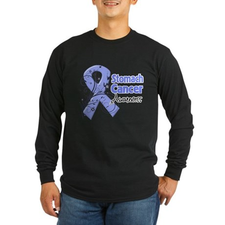 Stomach Cancer Awareness Long Sleeve Dark T-Shirt
