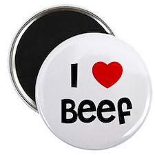 """I * Beef 2.25"""" Magnet (10 pack)"""