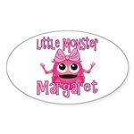 Little Monster Margaret Sticker (Oval)