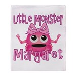 Little Monster Margaret Throw Blanket