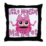 Little Monster Margaret Throw Pillow