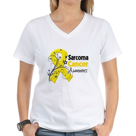 Sarcoma Awareness Women's V-Neck T-Shirt
