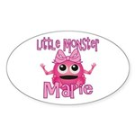 Little Monster Marie Sticker (Oval)