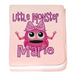 Little Monster Marie baby blanket