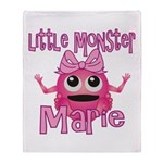 Little Monster Marie Throw Blanket
